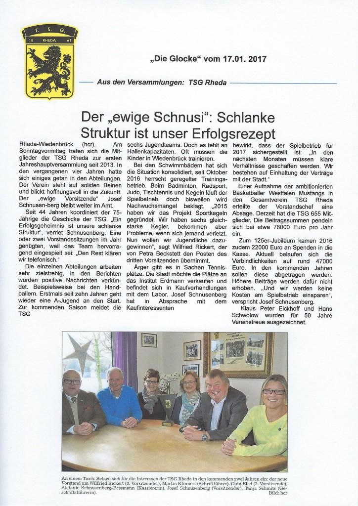 Pressebericht Migliederversammlung 2017