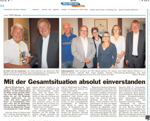 TSG Hauptversammlung So. 13.05.2018
